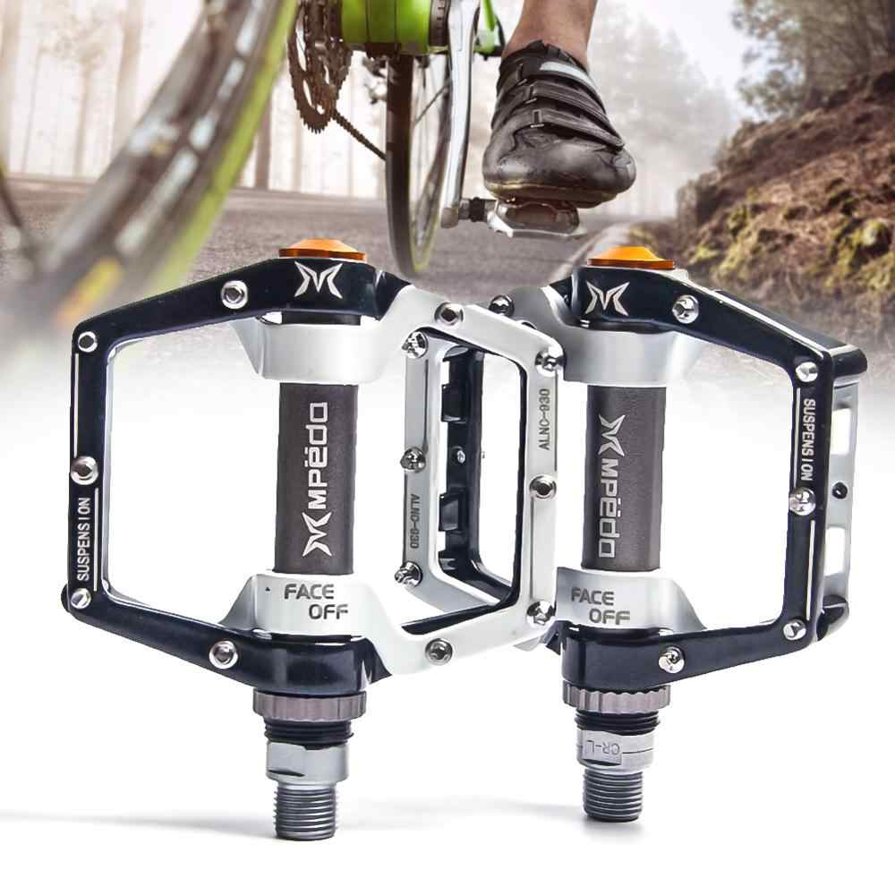 Road Mountain Bike Pedals Flat Wide Platform Sealed Bearing 9//16 in For MTB BMX