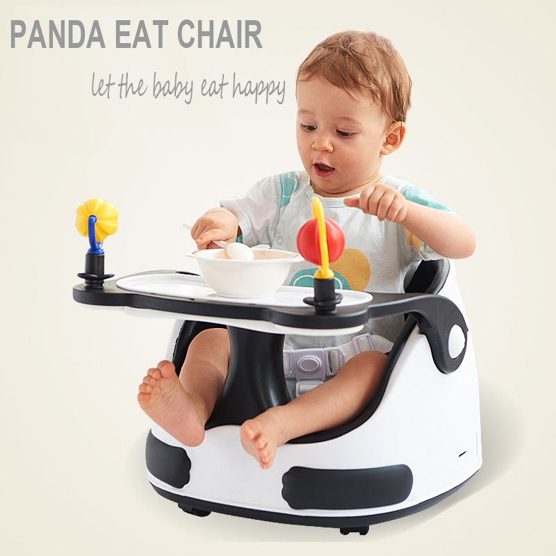 Baby Highchair Baby Booster Seats Kids Eating Dining Plastic Chair With Wheels Dinner Table Multifunction Portable Sliding Seat