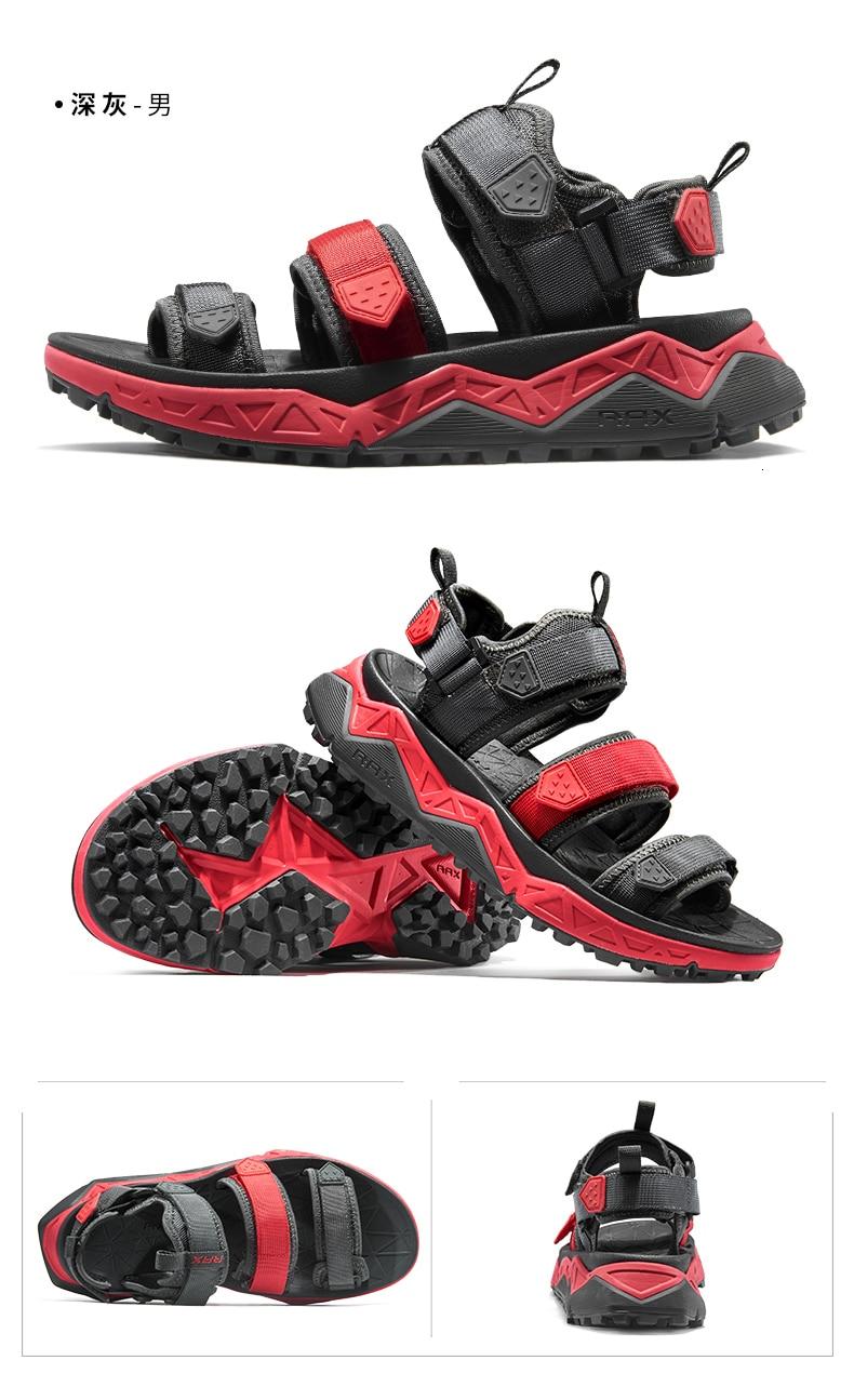 Rax homens sandálias esportivas verão ao ar
