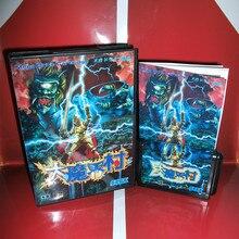 Ghouls n Ghosts Japan 박스 및 설명서 커버 MD MegaDrive Genesis 비디오 게임 콘솔 16 비트 MD 카드