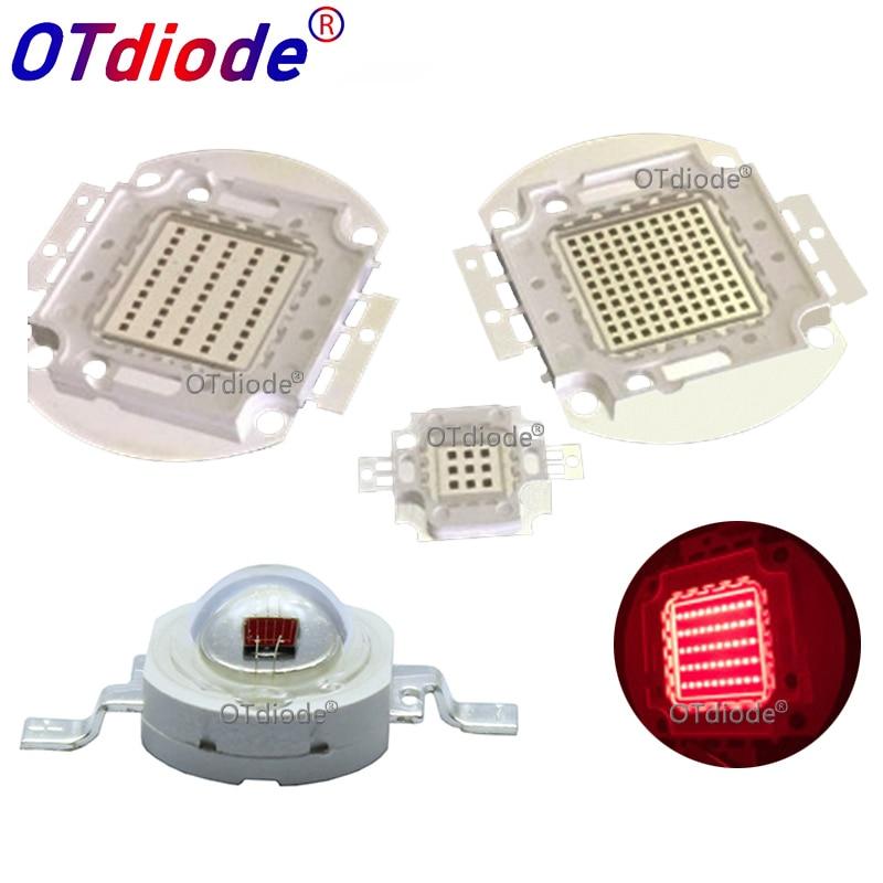 High Power LED Chip 660nm Deep Red LED Grow Light 660 Nm 3W 5W 10W 20W 30W 50W 100W COB Emitter For Plant Growing Tank Aquarium