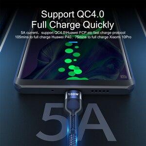 Essager 100 Вт USB Type C к USB C кабель USB-C PD Быстрая зарядка зарядное устройство провод шнур для Macbook Samsung S20 Xiaomi Type-C USBC кабель