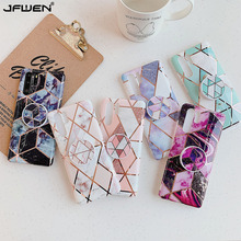 Grip Stand Holder Plating Marble Phone Cases For Huawei P40 P30 Lite Mate 30 20 Pro Lite Case Silicone Soft TPU Back Cover plating tpu phone case for huawei p20 pro p30 pro p40 gloryv20pr pro soft silicone upscale phone cases mobile phone accessories