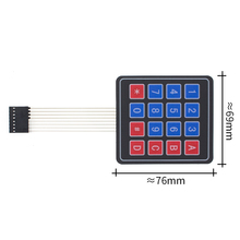 100 Stks/partij 4*4 Matrix Array/Matrix Keyboard 16 Key Membraan Switch Toetsenbord Voor Arduino 4X4 Matrix Toetsenbord