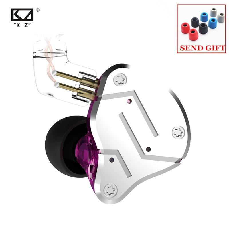 KZ ZSN 1BA 1DD Heavy Bass Commutative Cable Earphone HIFI Quad Core Controlled Music Movement ZST AS10 ZS10 ZSN PRO BA10 ES4 V80