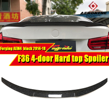 F36 4-doors Hard top tail Rear Trunk Spoiler  AEM4 Style Forging Carbon  For 4 series F36 420i 430i 430iGC 440i Wing Spoiler 14+ f32 2 doors hard top tail spoiler wing forging carbon m4 style for bmw 4 series 420i 430i 430igc 440i trunk spoiler wing 2014 18