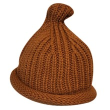 Fashion Newborn Baby Hats Knitted Winter Warm Cap Protects Ear Bonnet Caps Knit Children Casual