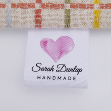 Sewing-Labels Custom Cotton Brand Heart-Shaped Pink Pink