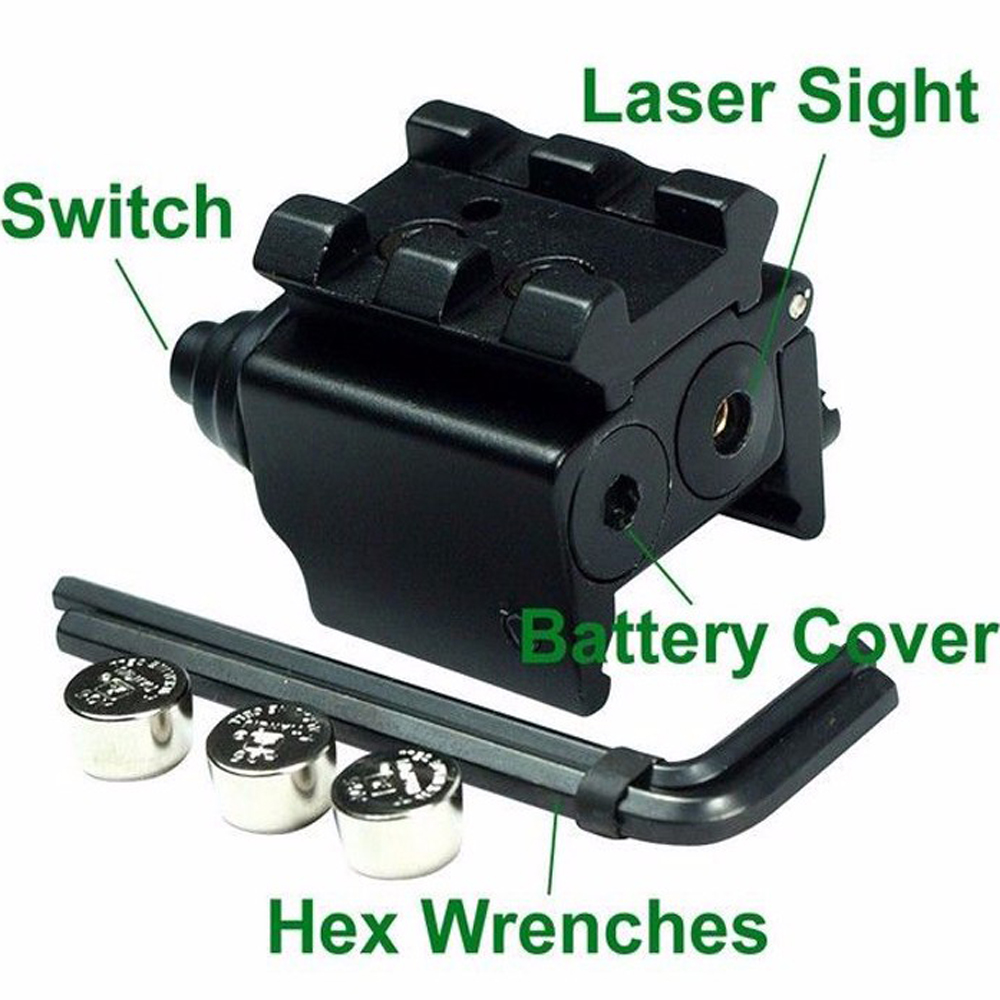 Hot High Quality Adjustable Red Laser Sight with 20mm Rail Mount Fit for Glock 17 19 Pistol Guns Glock Hunting Accessory-4