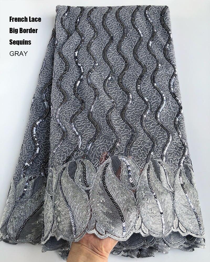 Pomarańczowy przewód francuski hafty koronki błyszczące afryki tiul koronka tkaniny nigerii szycia suknia wieczorowa z cekinami 5 metrów za sztukę