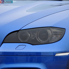 2 Pcs Car Headlight Protective Film Front Light Transparent Smoked Black TPU Sticker For BMW X5 E70 M 2007-2013 Accessories