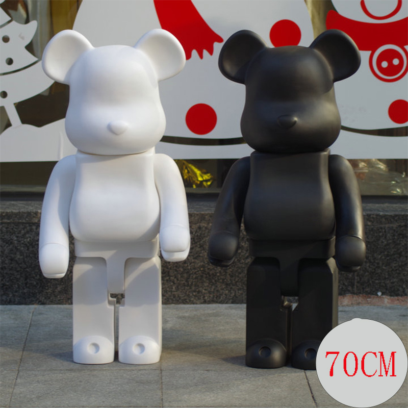 70cm 1000% Bear@brick Action Figures Block Bear PVC Model Figures Children Gifts DIY Paint Dolls Kids Toys