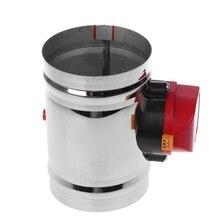 Válvula Solenoide de acero inoxidable de 125Mm, válvula de aire de acero inoxidable, válvula de Control de volumen de aire, válvula de aire eléctrica de acero inoxidable V