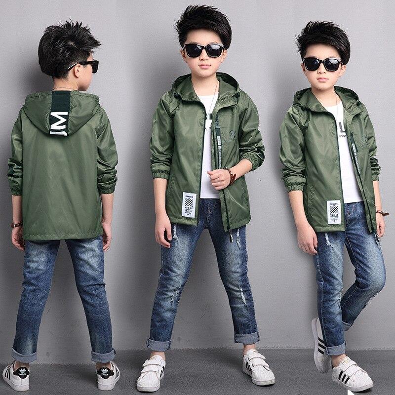 Куртка бомбер с капюшоном для мальчиков, зеленая ветровка для зимы, 2020|Куртки и пальто| | АлиЭкспресс