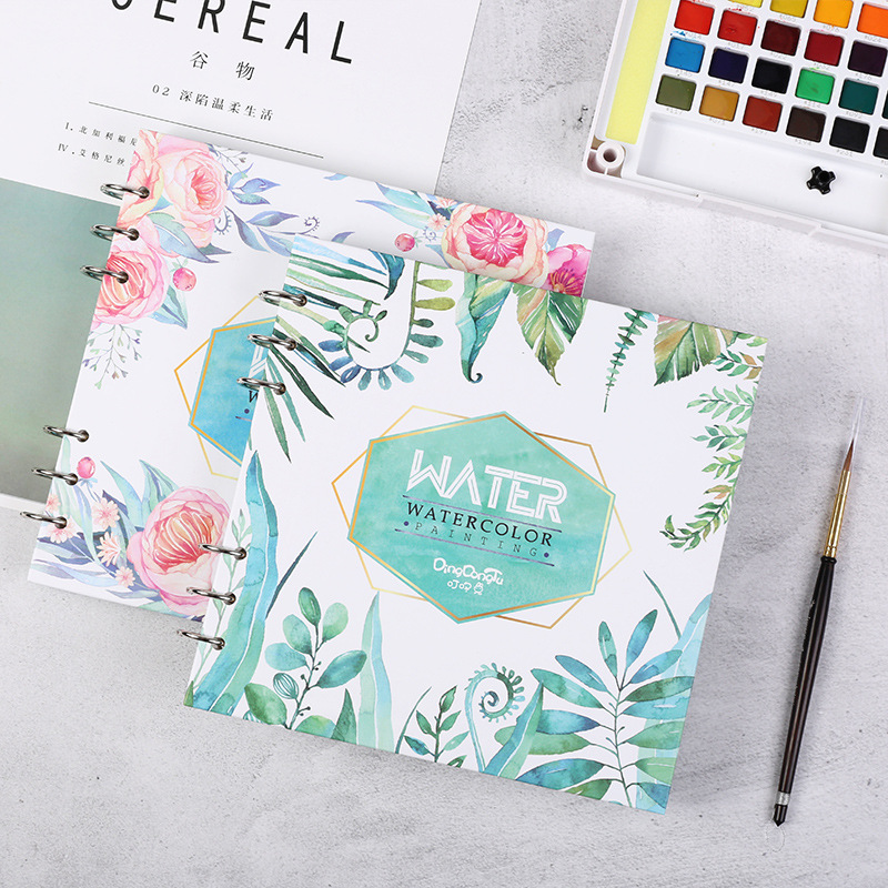 Square Cotton 300g/m2 Watercolor Paper 20Sheets Fresh Hand Painted Watercolor Book For Artist Student Graffiti Book