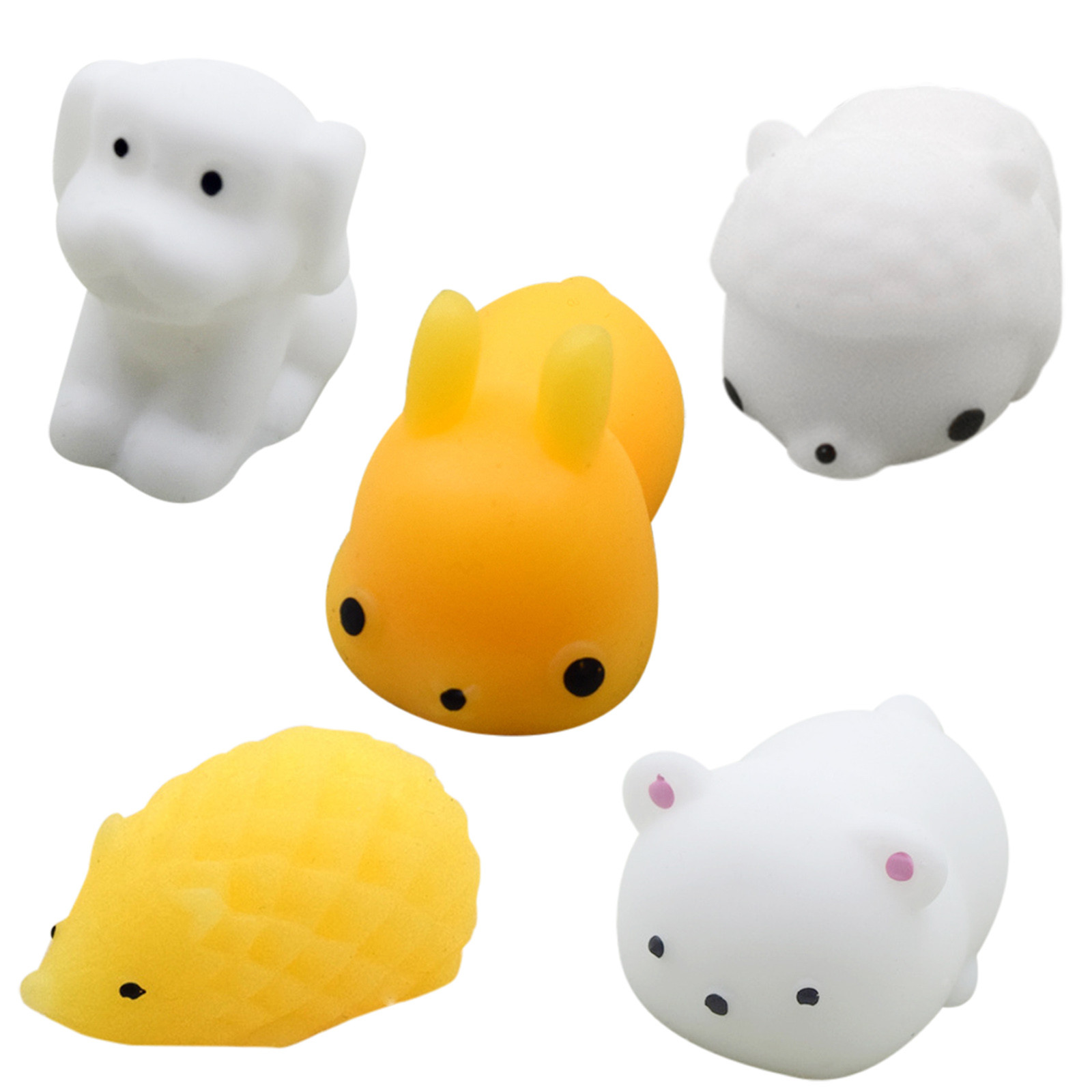 5/20pcs Pack Squishy Cat Mochi Antistress Squeeze Squish Cute Animal Toys Stress Relief img5