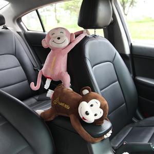 Креативная милая обезьянка Автомобильная подвесная бумажная коробка под салфетку бумажные игрушки коробка для салфеток Обложка держатель...