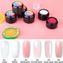 8ml Quick Building Nail Gel 6colors Thick Crystal Jelly Builder UV Gel Finger Extension Building Gel Tips Soak Off Nail Art Gel