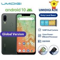 Global banda UMIDIGI A3X 3GB RAM 16GB MT6761 5,7