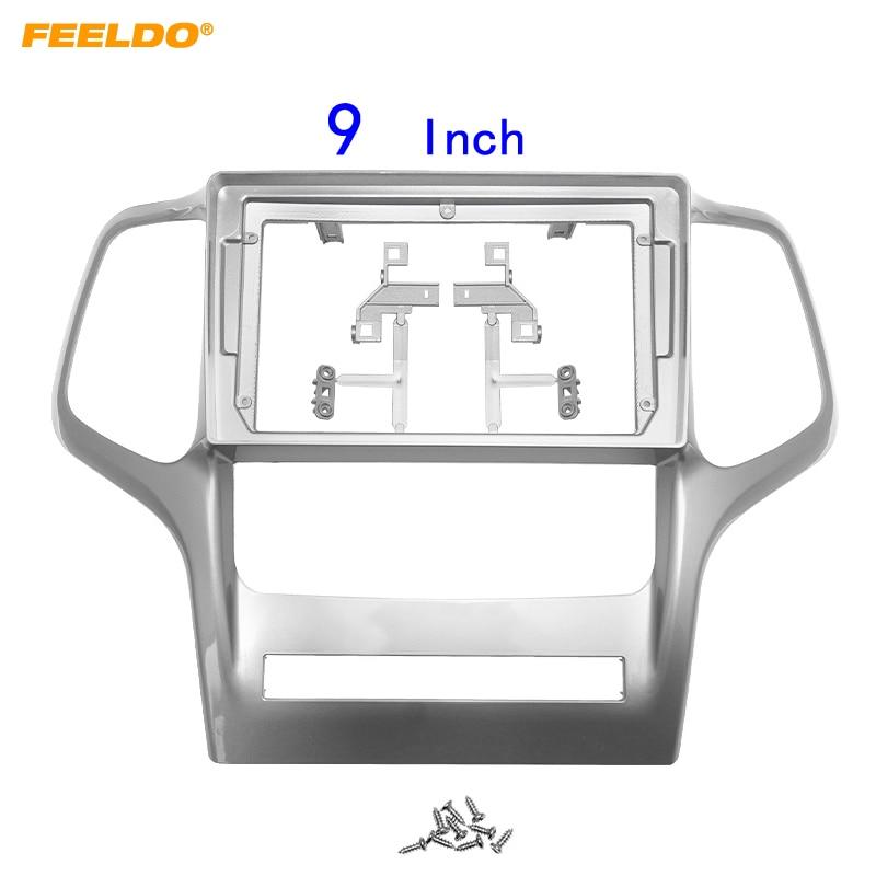 FEELDO Car Audio Fascia Frame Adapter For Jeep Grand Cherokee 9