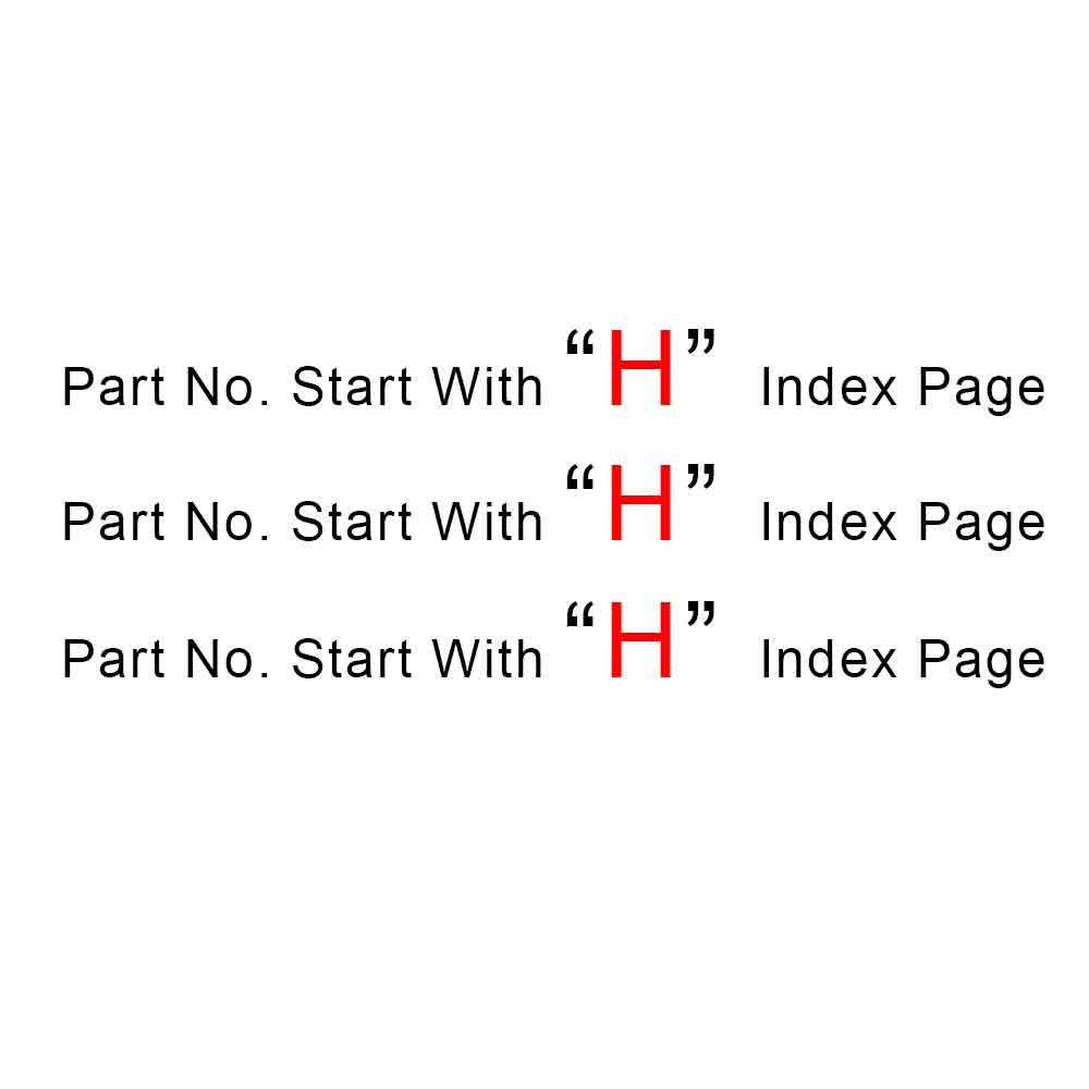 Start With H Index Page
