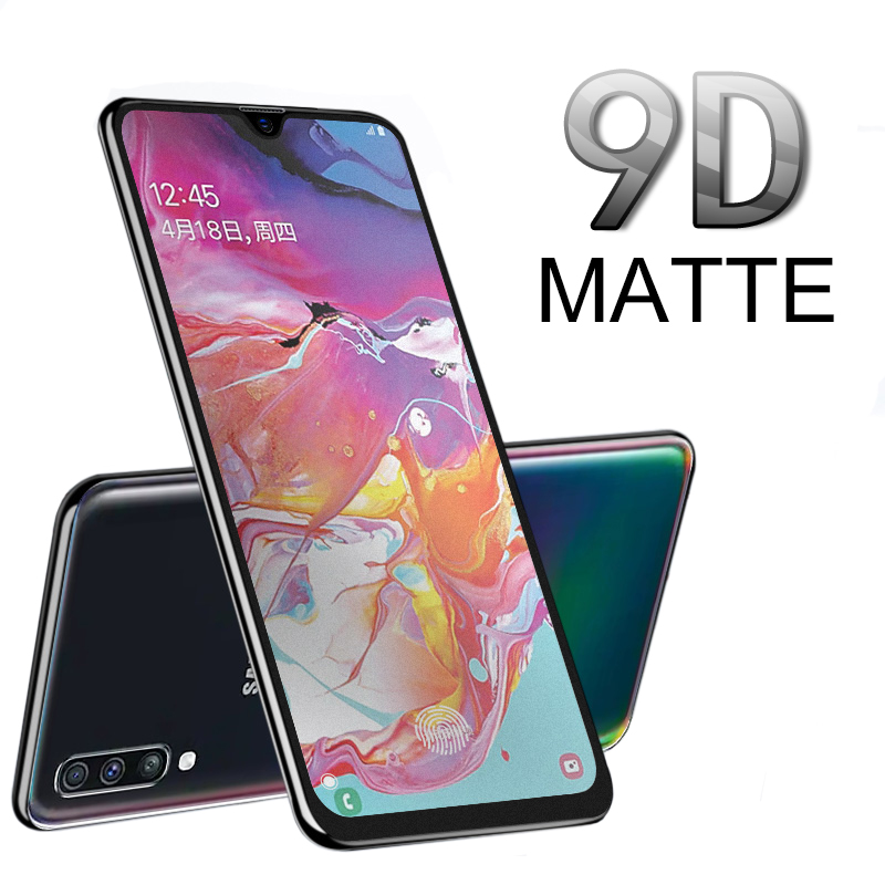 9d matte frosted tempered <font><b>glass</b></font> screen protector for <font><b>samsung</b></font> <font><b>galaxy</b></font> a10 a20 a30 a40 50 a70 m30 m20 m10 2019 protective film image