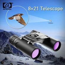 APEXEL Binocolo Mini Telescopio 8x21 BAK4 FMC Ottica del Telescopio di Campeggio di Caccia A Lungo Raggio Compatto Zoom Binocolo Tascabile