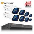 Jennov HD 5MP H.265 Video Überwachung 8 Kameras Sicherheit Kamera Set Für CCTV Outdoor überwachungskamera System AHD Kamera DVR p2P-in Überwachungssystem aus Sicherheit und Schutz bei