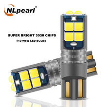 NLpearl 2x Signal Lamp W5W LED 168 194  Led Bulb 10 SMD 3030 Chips T10 Led Canbus Car Interior Lights Clearance Dome Light 12V