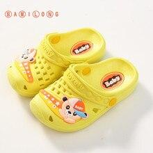 Girl Shoes Sandal Toddler Slipper Flip-Flop Kids Beach Summer Children Yellow EVA Boy