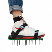 Lawn Aerator Shoes Grass Spiked Gardening Walking Revitalizing Lawn Aerator Sandals Shoes, Nail Shoes, Nail Grow Tool, Garden(China)
