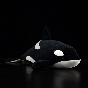цена на 40cm Orcinus Orca Lifelike Fin Killer Whale Stuffed Plush Toy Soft Sea Animal Kids Simulation Ocean Marine Toy Gift CollectionPJ