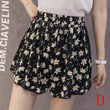 shorts Loose Print Elastic Chiffon Floral Print Short Pants SF