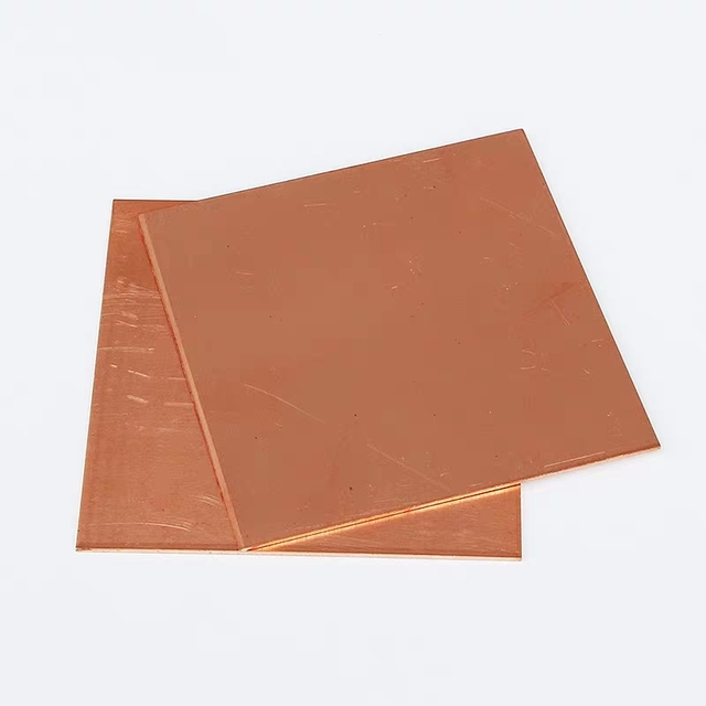 Brand New 99.9% Pure Copper Cu Metal Guillotine Cut Sheet Plate Safe Using Wholesale price