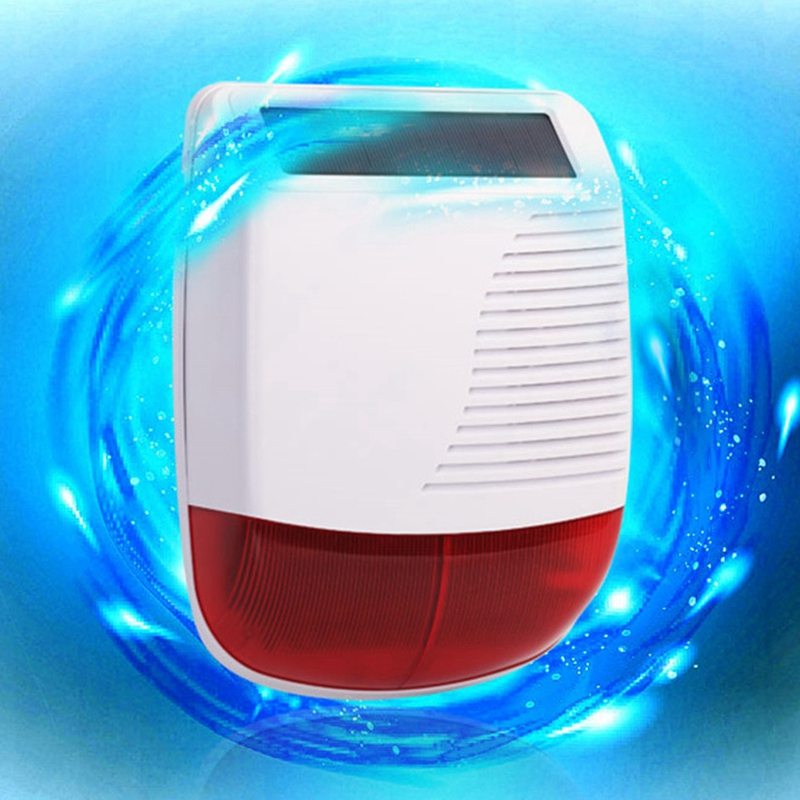 Hot 3C-433MHz Wireless Solar Waterproof Flash Siren Outdoor Strobe Light for Home Burglar Security Alarm System