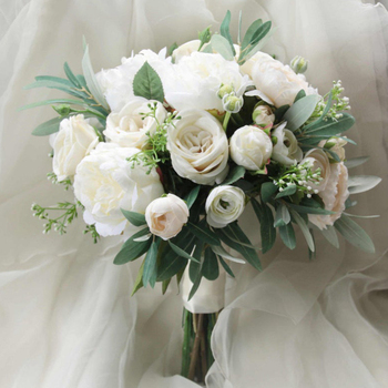 Silk Wedding Bouquet  Bridal Boho Artificial flowers Natural Flowers accessories