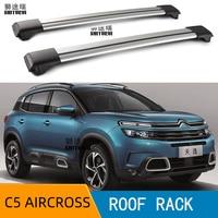 2Pcs Roof bars For CITROEN C5 AIRCROSS 2019+KL Aluminum Alloy Side Bars Cross Rails Roof Rack Luggage LOAD 200KG Vehicle mounted