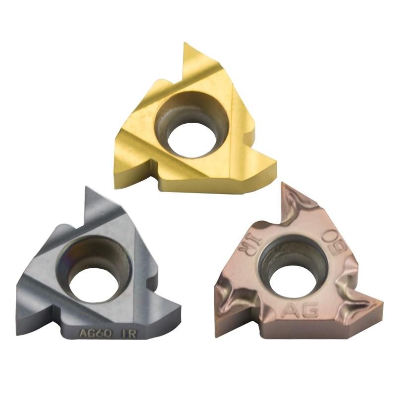 10pc 16IR AG60 AG55 Carbide Threaded Insert Steel Parts Thread Turning Tool Blade For SNR Bar CNC Lathe