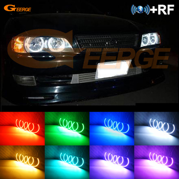 цена на RF remote Bluetooth APP Multi-Color Ultra bright RGB LED Angel Eyes kit For Toyota Chaser JZX100 1996 1997 1998 1999 2000 2001