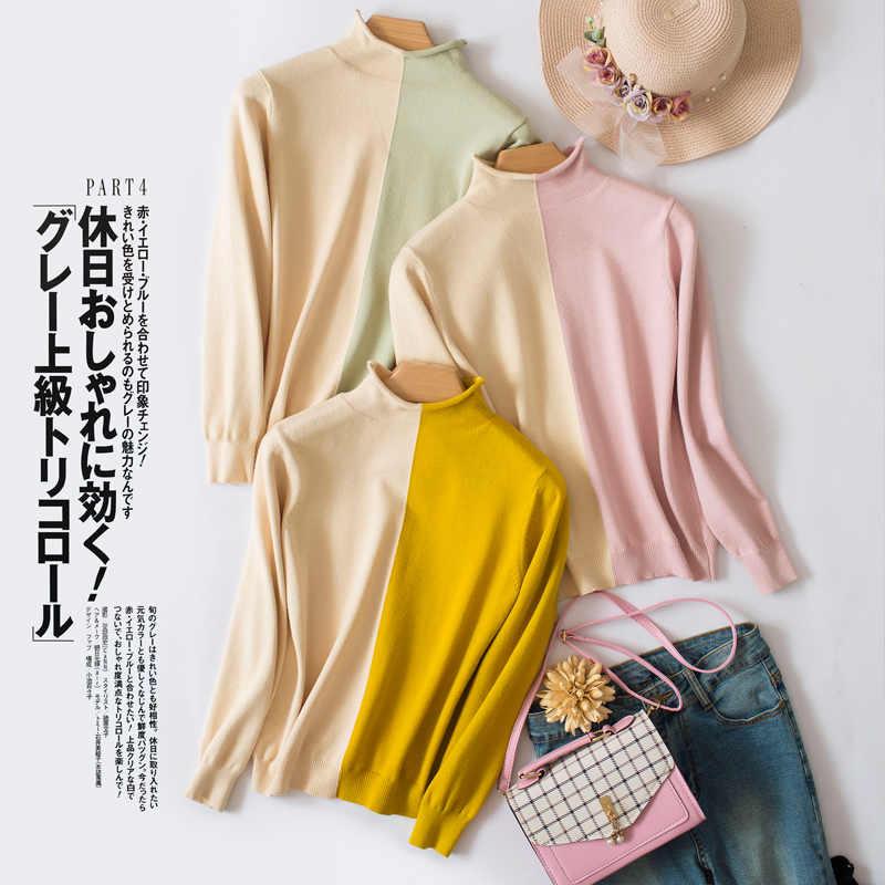 Áo len nữ cao cổ Cashmere Áo len nữ thời trang áo len dệt kim chui đầu nữ sweter Thu Đông Plus Kích Thước mới cao cấp