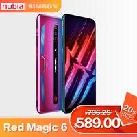 Globalna wersja Nubia RedMagic 6 Snapdragon 888 5G smartfony 5050mAh Google Play 30W Super ładowarka telefon komórkowy