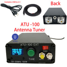 Sintonizador automático da antena da máquina ATU-100-50mhz atu100mini de 1.8 atu100 por n7ddc 7x7 3.2firmware programado oled