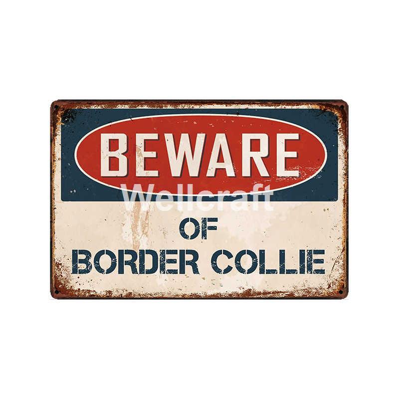 [WellCraft] być wyroby z border collie metalowe tablica ścienna plakietki emaliowane plakaty w stylu Vintage malarstwo niestandardowy wystrój LC-15770