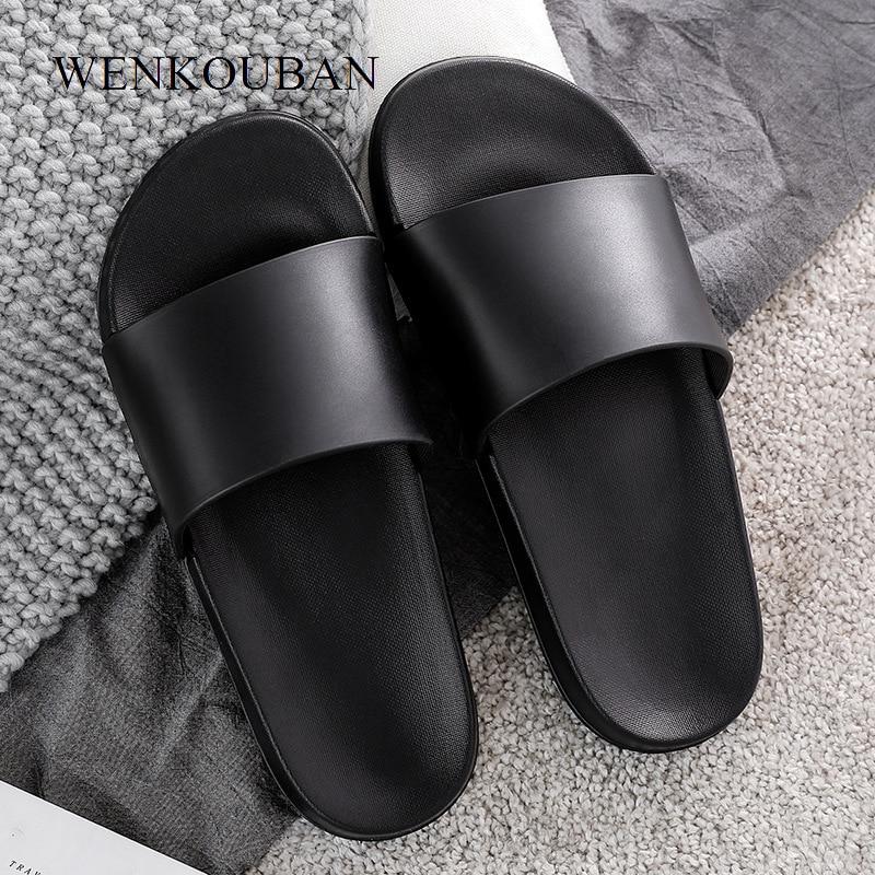 Summer Women Slippers Fashion Slip On Female Beach Shoes Black White Slides Ladides Flip Flops Women Home Bath Indoor Shoes