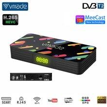 Wi-fi tv receptor sintonizador h.265/hevc DVB-T2 usb hd 1080p DVB-T2 digital decodificador caixa de tv suporte youtube meecast super conjunto-caixa superior,2020 mais novo mini receptor de TV DVB-T M3U