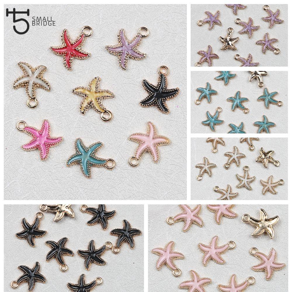 8pcs Starfish Metal Charm Pendant Craft Jewelry Making DIY