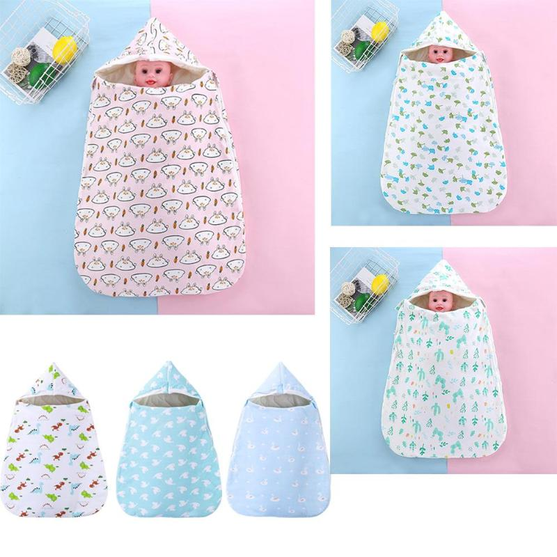 Baby Winter Warm Sleeping Bags Cotton Portable Printing Wear-resisting Envelopes Newborn Infant Swaddle Stroller Wrap