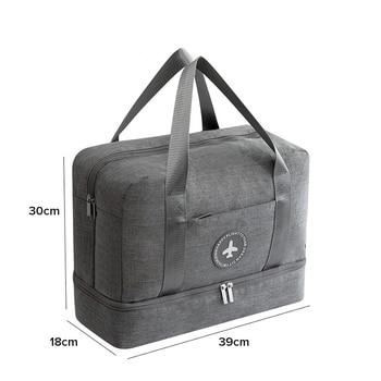 JULY'S SONG Travel Bag Waterproof Large Capacity Multifunctional Dry Wet Separation Storage Handbag Bag Travel Duffle Bag 1