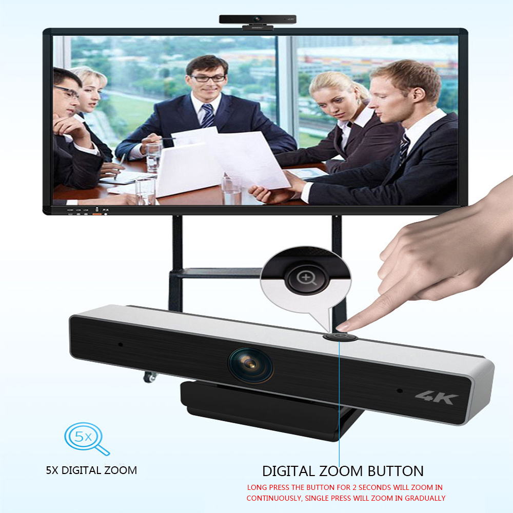 C98 4K UHD Video Call Webcam For Video Conference streaming Recording 5X Digital Zoom Web Camera Web cam for Windows Laptop PC