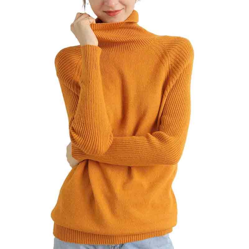 Merino Wool Cashmere Sweater Women Turtleneck Long Sleeves Autumn Winter Sweater Women's Knitting Jumper Female Pullover Sweater